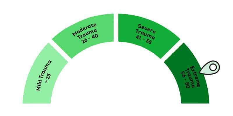 Waji Mental Healthcare Score-Chart-56-80-25-Trauma PTSD is Vastly Under & Misdiagnosed